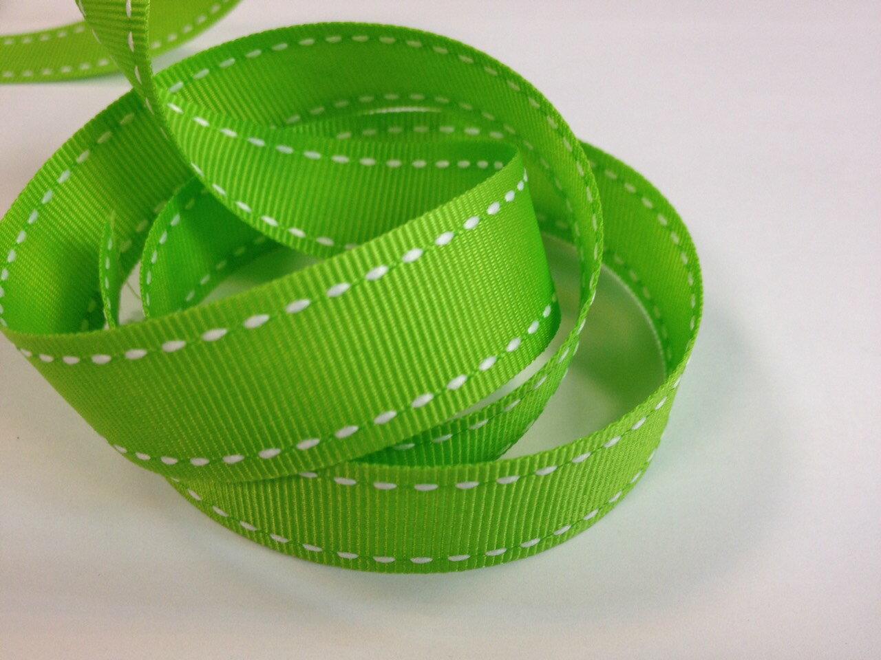 【Crystal Rose緞帶專賣店】橫紋縫線帶-22mm(七色) 1