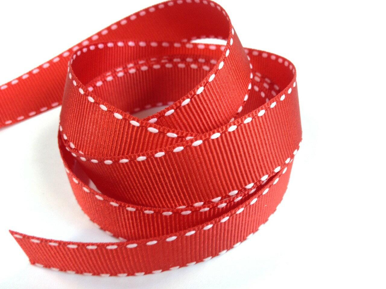 【Crystal Rose緞帶專賣店】橫紋縫線帶-22mm(七色) 2