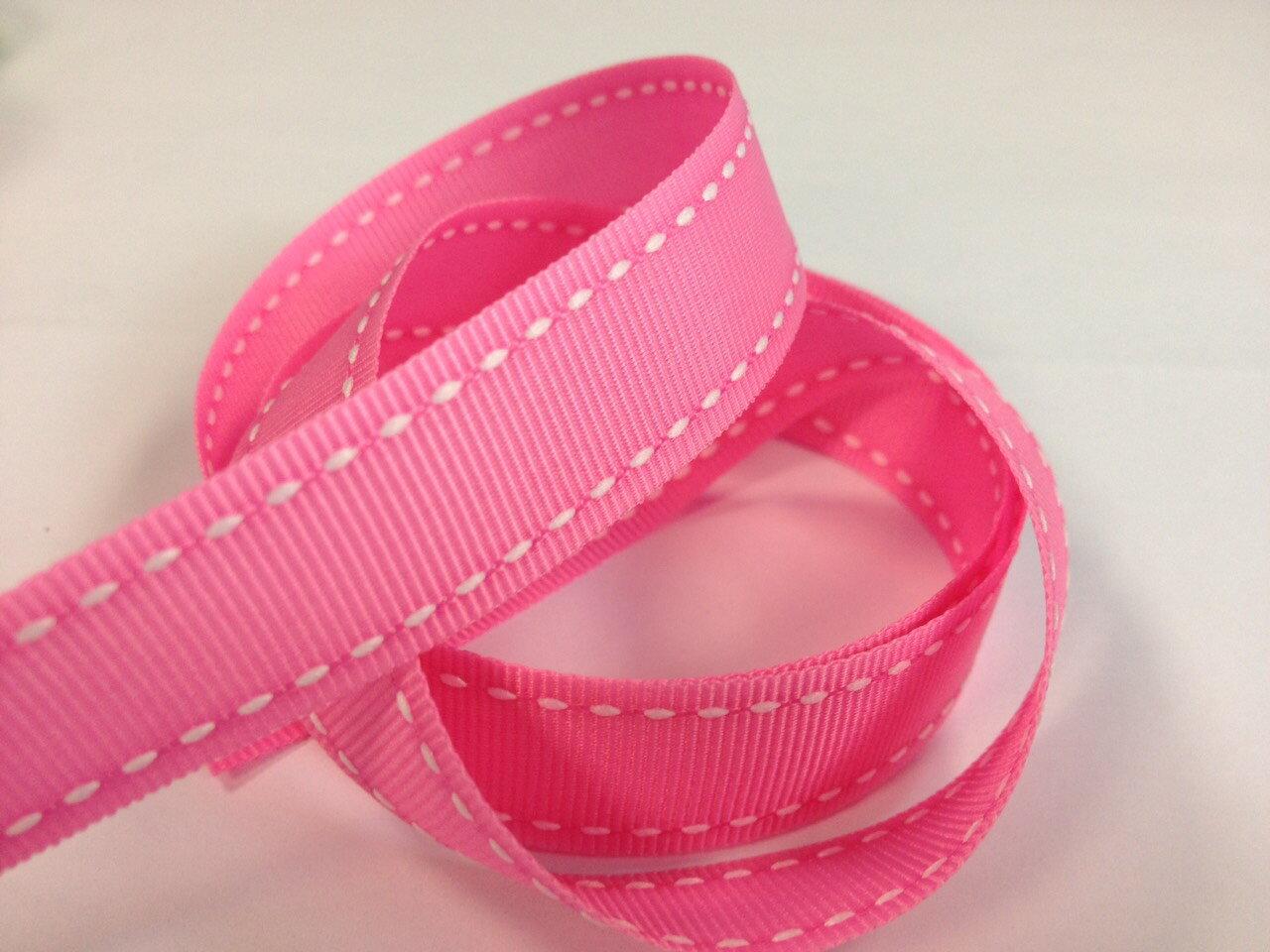 【Crystal Rose緞帶專賣店】橫紋縫線帶-15mm(十五色) 1