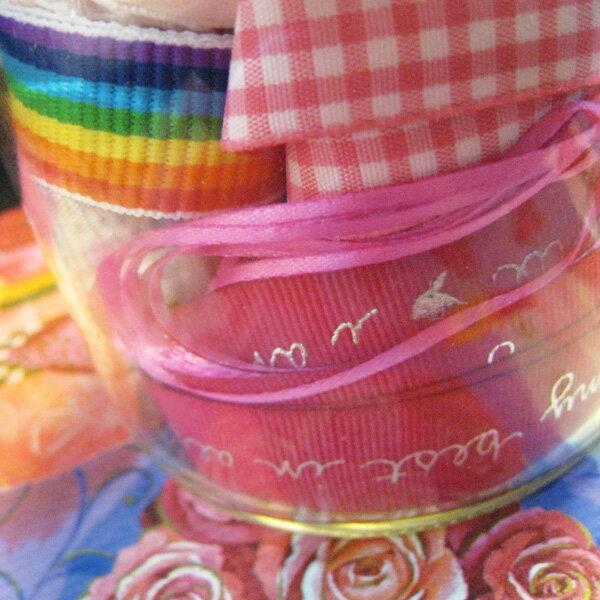 【Crystal Rose緞帶專賣店】緞帶膠囊-甜蜜蜜 ★限量絕版品 貼心罐裝百搭配色 送禮自用收藏皆宜★ 1