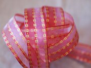 彩織方格網帶+鐵絲 25mm3碼 (4色) 1