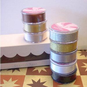 低調奢華系列盒裝-第五大道-雙面緞+經典金銀蔥織帶