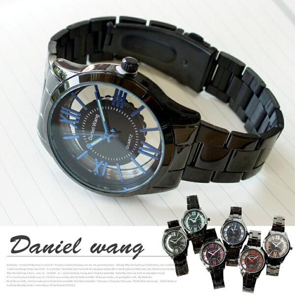 Daniel Wang 2202-IP 激似CK風格炫彩鏤空羅馬數字鐵帶錶