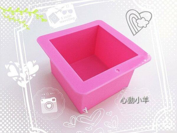 心動小羊^^480g正方形 矽膠 DIY 手工皂模具 好脫模 易清洗 方形皂模方形土司模