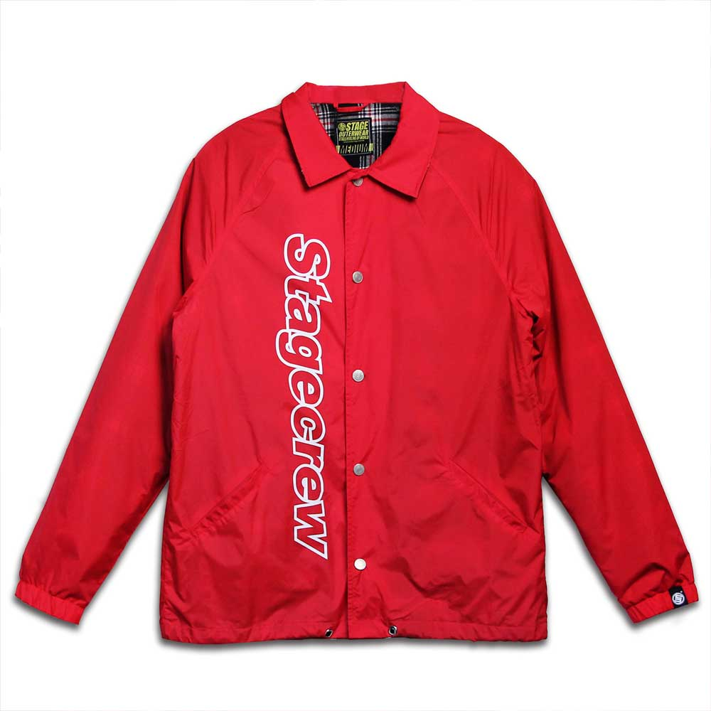 STAGE CREW COACH JACKET 黑色 / 紅色 7