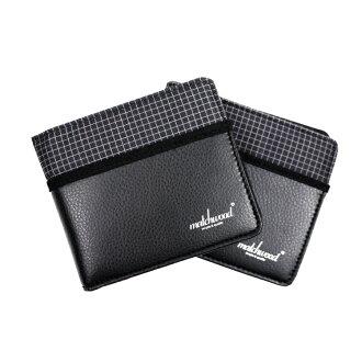 REMATCH - Matchwood Positive 皮夾 錢包 短夾 錢夾 卡夾 格紋拼接皮料黑款 Herschel / master-piece / HEADPORTER 可參考
