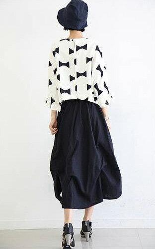 韓版長裙 鬆緊腰設計不拘束花苞式長裙 艾爾莎【TAE2391】 2