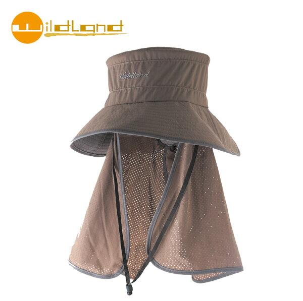 【WildLand 】中性抗UV多功能遮陽帽W1028 / 城市綠洲  (UPF30+.防曬.防紫外線.機能帽.吸濕快乾透氣))