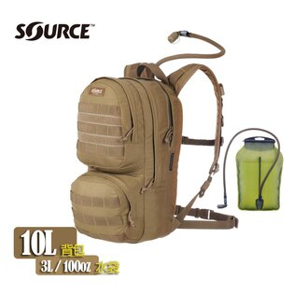 Source Commander軍用水袋背包 4010530203 狼棕色 /城市綠洲(以色列原裝進口)