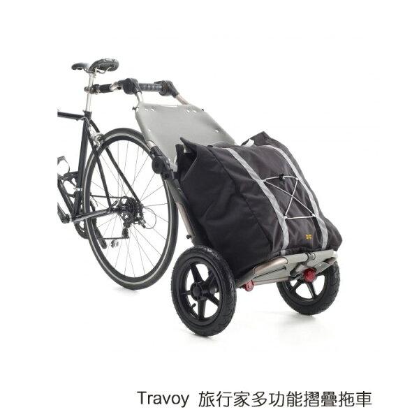 Burley Travoy旅行家多功能摺疊拖車/城市綠洲(自行車專用、拖運、腳踏車、戶外單車、行李)