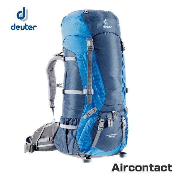 deuter Aircontact 拔熱透氣背包 33472、43033(75+10L)/城市綠洲(德國登山背包.後背包.登山包包)