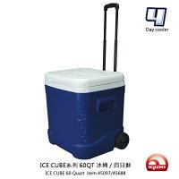 新手露營用品推薦到★四日鮮★ IgLOO ICE CUBE系列60QT冰桶45097.45688 56L/城市綠洲專賣(保鮮、保冷、美國製造、露營旅行、保冷達四日、4日)