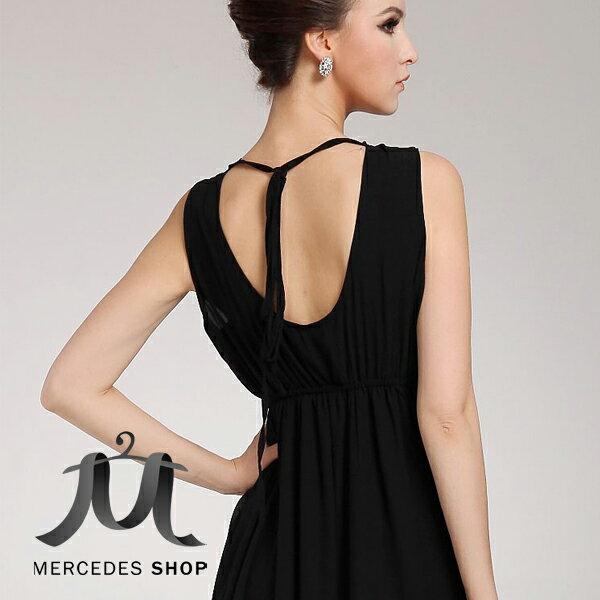 梅西蒂絲-歐美新款無袖長版洋裝