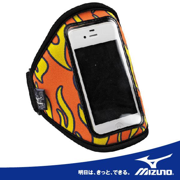 MIZUNO 美津濃 i PHONE輕量手臂包(火焰橘)。51DA-30353