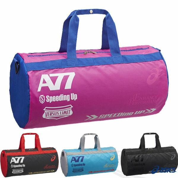 ASICS亞瑟士 A77系列兩用圓筒包(桃紅*寶藍) 肩背 斜背皆可 33L大容量提袋