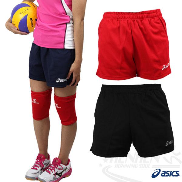 ASICS亞瑟士 針織排球短褲(紅/深藍/黑) 吸汗速乾 彈性佳 可團體印字 XWK113