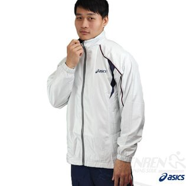 ASICS 亞瑟士 男 平織反光運動外套(銀白色) 外層防風防潑水 內層鋪絨