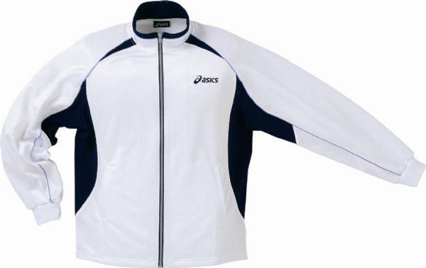ASICS 亞瑟士 男 針織運動外套(白*黑 M/XL) 彈性舒適 透氣排汗