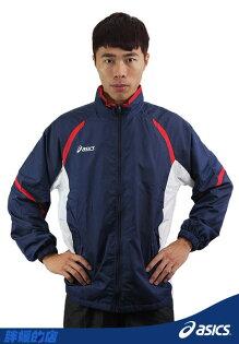 ASICS亞瑟士 輕量鋪棉保暖外套(藍XL/XXL)