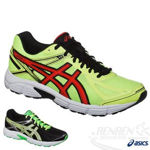 ASICS亞瑟士 男慢跑鞋PATRIOT 7 健康入門(螢光黃*紅) 2015新款 緩衝性佳