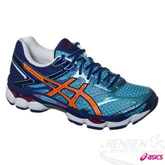 ASICS亞瑟士 GEL-CUMULUS 16 (D)女高緩衝慢跑鞋(藍*橘)