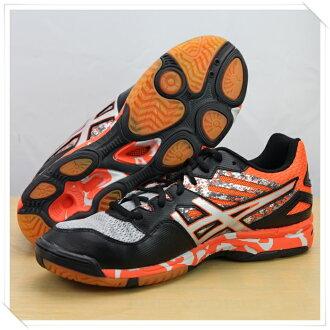 ASICS亞瑟士 排球鞋 男GEL-FLASHPOINT 2(迷彩橘) 進階款排羽球鞋