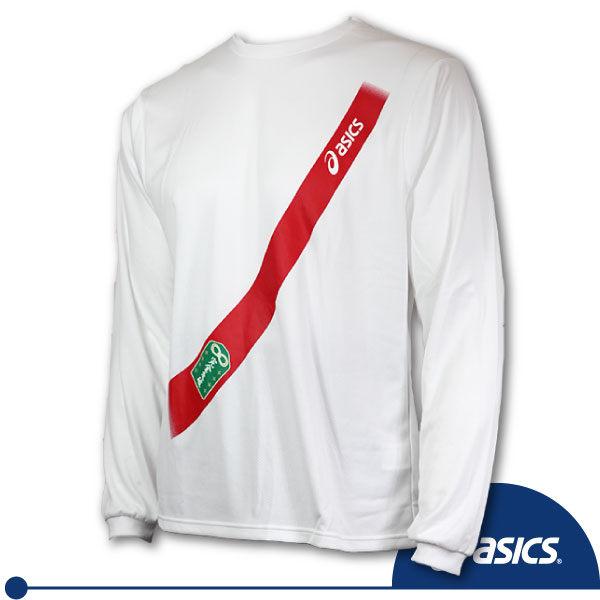 ASICS亞瑟士 印花長袖T恤 吸溼排汗慢跑長袖(白S/M/2XL)
