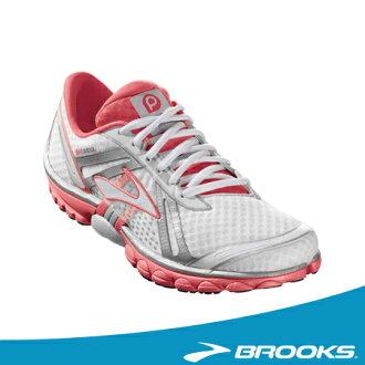BROOKS 限量特賣 PURE系列- 女PureCadence 支撐型專業慢跑鞋(白粉)。BK1201041B169