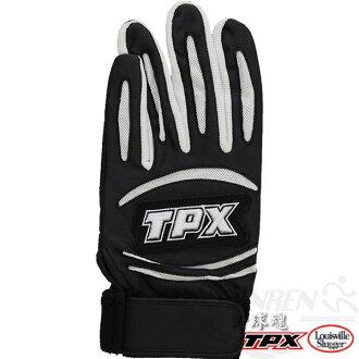 Louisville Slugger TPX打擊防震耐磨手套(黑*白/左手) LB14567L00
