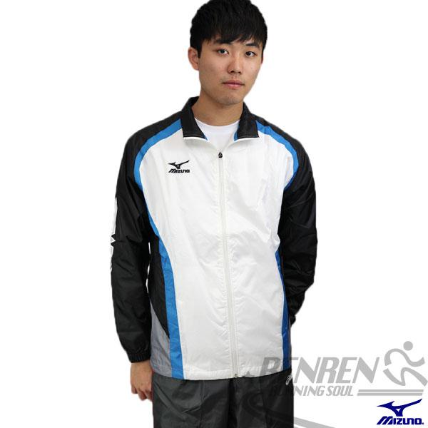 MIZUNO 美津濃 平織運動外套(白*藍) 網布內裡 風衣外套