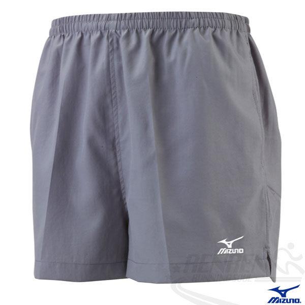 MIZUNO 美津濃  路跑褲(新中灰) 背部口袋運動短褲 四分短褲