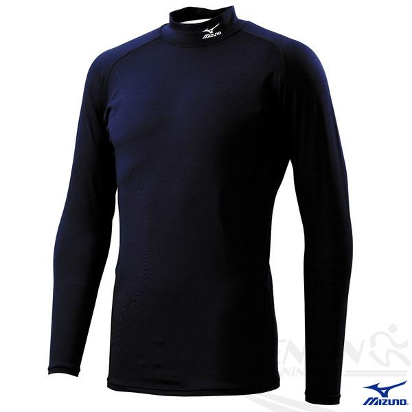 MIZUNO 美津濃 棒球緊身衣(深丈青) 棒壘球適用 長袖緊身衣
