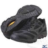 慢跑_路跑周邊商品推薦到MIZUNO 美津濃 全黑慢跑鞋 寬楦Maximizer WB 3 學生軍警公教 全黑鞋8KA-33289