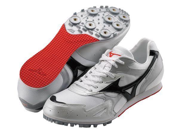 MIZUNO美津濃 田徑釘鞋(白*紅 男女同款) TMC SPLIT 2 中長距離 7mm尖釘