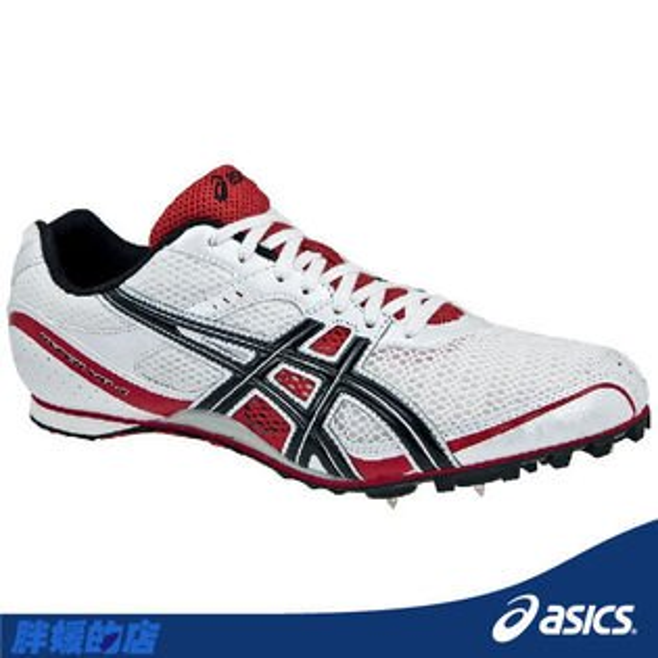 ASICS亞瑟士-HYPER MD 4 女田徑釘鞋(白紅)。(23/23.5/24號)G101N-0190