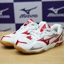 MIZUNO 美津濃 兒童排球鞋WAVE STARDOM JP2 (白*紅19/20號)