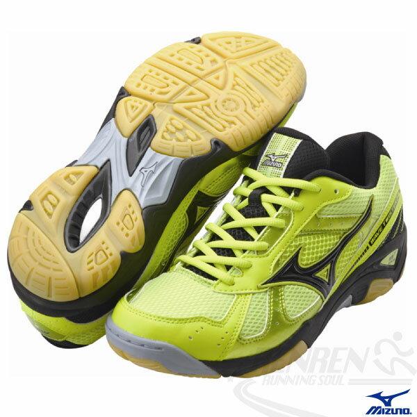MIZUNO 美津濃 2014新款排球鞋(螢光綠) Wave Twister 2 男女同款 V1GA147109