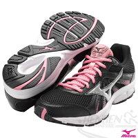 慢跑_路跑周邊商品推薦到MIZUNO 美津濃女慢跑鞋 CRUSADER 8 (黑*銀) 一般型鞋款 適合慢跑快走