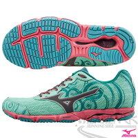 慢跑_路跑周邊商品推薦到MIZUNO 美津濃 WAVE HITOGAMI 2 女路跑鞋(薄荷綠*粉) 2015新款 慢跑訓練鞋 人神!以快止戰