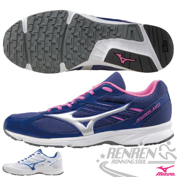MIZUNO美津濃 馬拉松入門款RUSH UP 女路跑鞋(藍紫*白) 輕量慢跑鞋 學生運動鞋