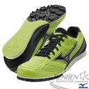 MIZUNO 美津濃 TMC SPLIT 3中長距離田徑釘鞋(螢光綠) 男女同款 7mm可換尖釘