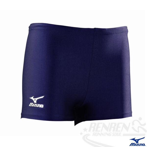 MIZUNO美津濃  BASIC 男四角泳褲(丈青) 基礎練習泳褲
