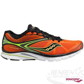 SAUCONY 自然3系列 KINVARA 4 男輕量慢跑鞋(橘/黑/黃) PowerGrid 輕量緩衝避震 SY20197-7免運