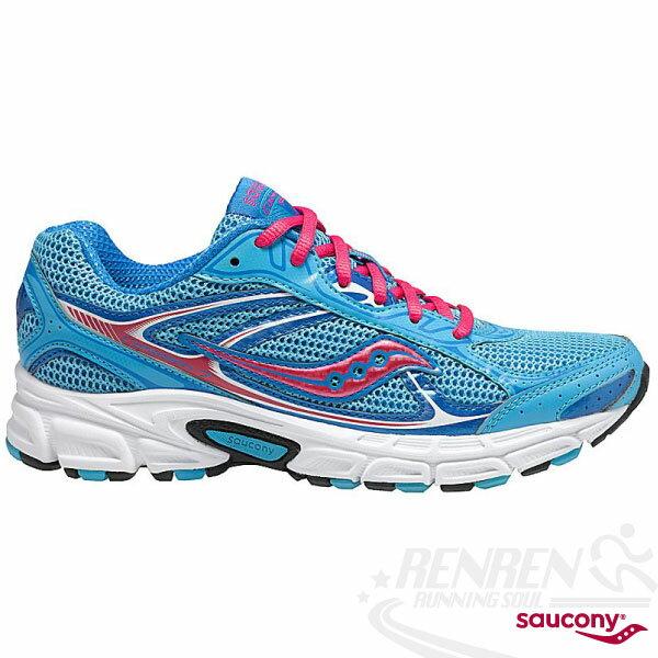 SAUCONY Grid Cohesion 7 女休閒慢跑鞋(天藍) 緩衝避震佳,健走步行適用 SY15181-3