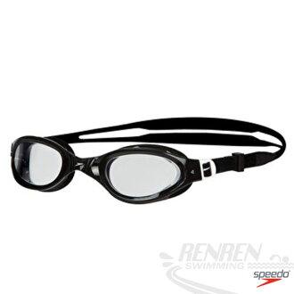SPEEDO 成人進階型泳鏡Futura Plus(透明*藍/黑*透明/紅*墨灰三色)。SD809009