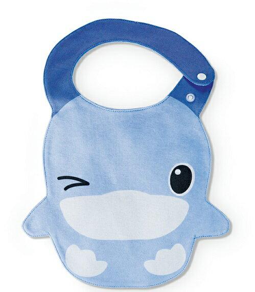 【全系列滿$500送夜燈玩具】台灣【Kuku 酷咕鴨】眨眨眼造型圍兜-2色 1