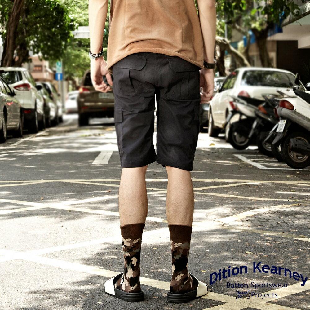 DITION   日系機能口袋outdoor工作短褲 素色 滑板 3