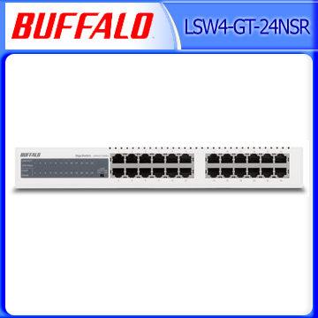 Buffalo 巴比祿 LSW4-GT-24NSR 24埠10M/100M/1000M 交換器 [天天3C]