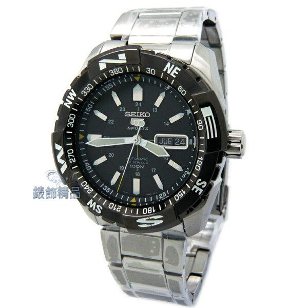 【錶飾精品】SEIKO 精工表SNZJ07K1盾牌5號 夜光 黑框白 防水100米 機械鋼帶男錶 正品SNZJ07禮物