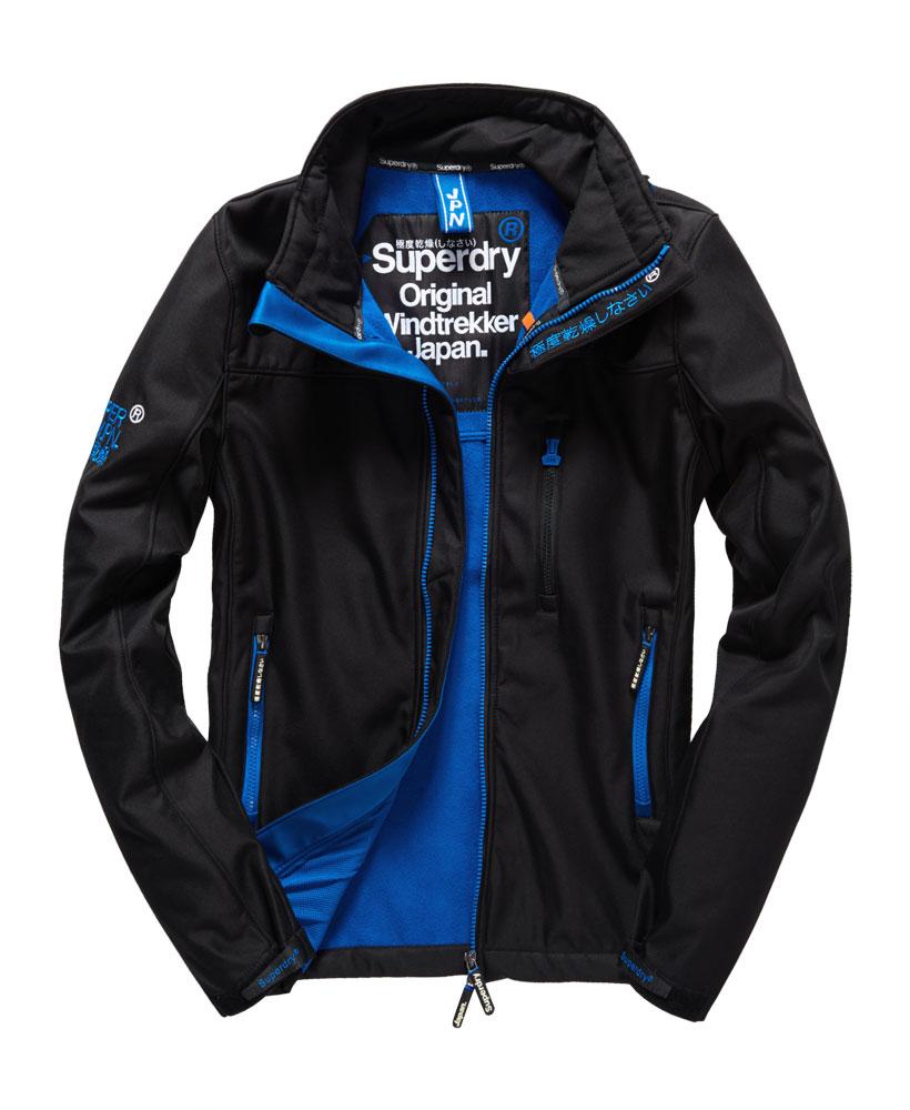 英國名品 代購 極度乾燥 Superdry Windtrekker 男士風衣戶外休閒外套 防水 黑色/寶藍色 0